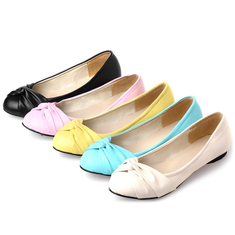 creepers new arrival medium b m 0 3cm big size 34 51 2017 new bottom women ballerina for ballet shoes flats pointed toe e1277 Brand Designer Flats Shoes Women Casual Ballerina Flat Shoes Elegant Spring Round Toe Loafers Dress Ballet Flats Zapatos Mujer