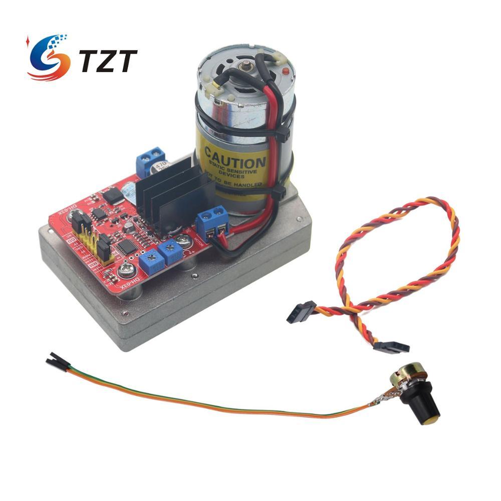 TZT تيار مستمر 12 فولت/24 فولت DH-03X عزم دوران كبير سبيكة سيرفو 380 كجم/سنتيمتر 160A ذراع ميكانيكية ل روبوت RC