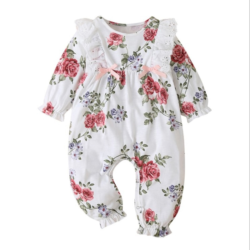 Autumn Baby Girls Casual Clothing Suit Clothes Outfit Kids Children Ruffle Long Sleeve Romper Tops Toddler Infant Clothing bear leader kids tracksuit girls clothing sets autumn winter striped girls clothes outfit suit children clothing 3 4 5 6 7 year