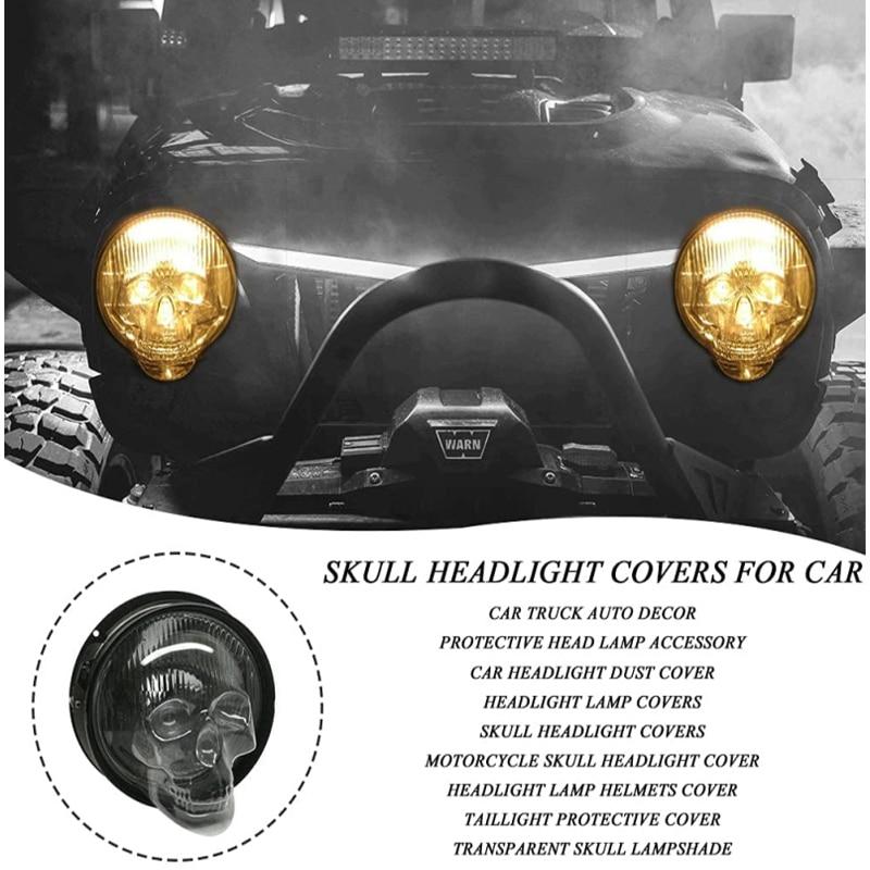 Car Front Fog Light Lamp Hoods Bulb Cover Car Headlight Covers Truck Auto Universal Decor Protective Head Lamp Accessory