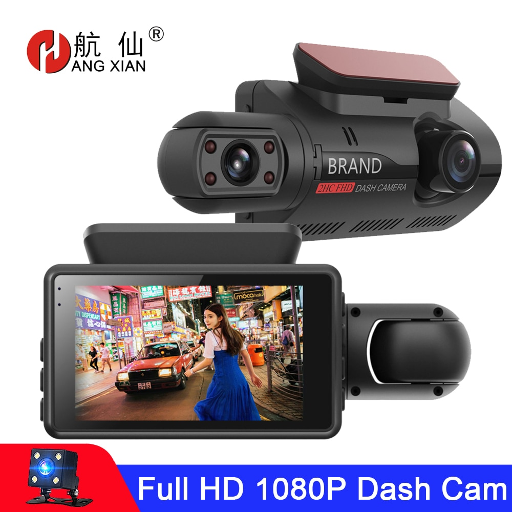 FHD Car DVR Camera Dash Cam Dual Record Hidden Video Recorder Dash Camera 1080P Night Vision Parking Monitoring G-sensor DashCam
