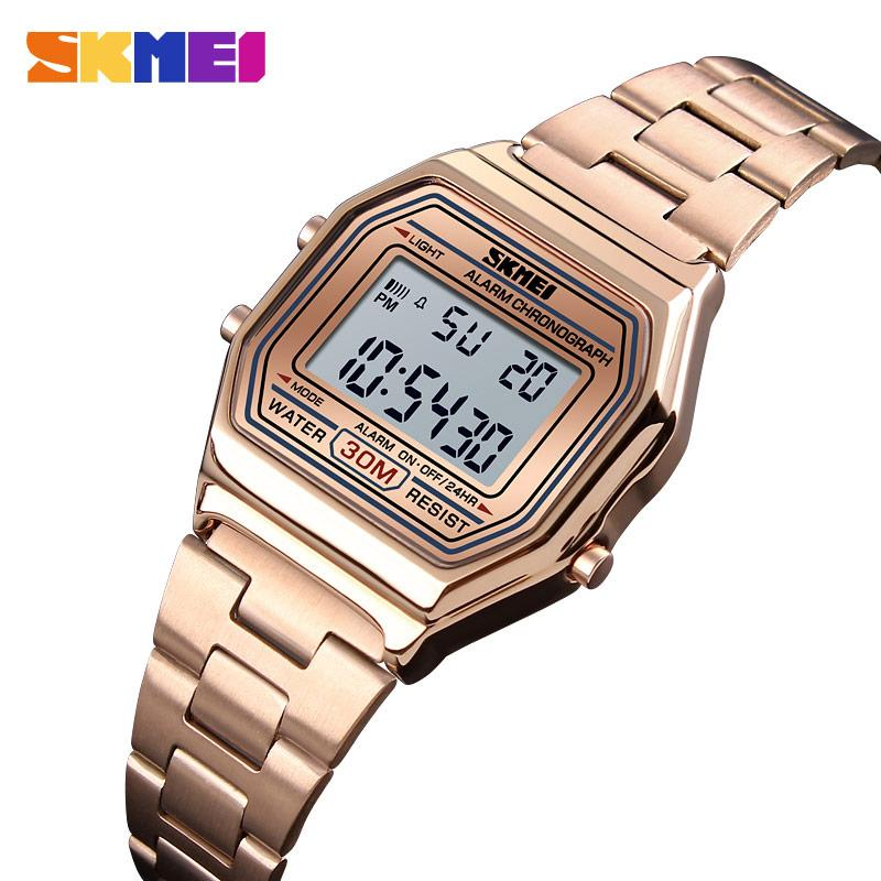 SKMEI Luxury Women Watch Casual Gold Wristwatch Thin Strap Watches 30m Waterproof Ladies Wrist Watch Relogio Feminino 1415