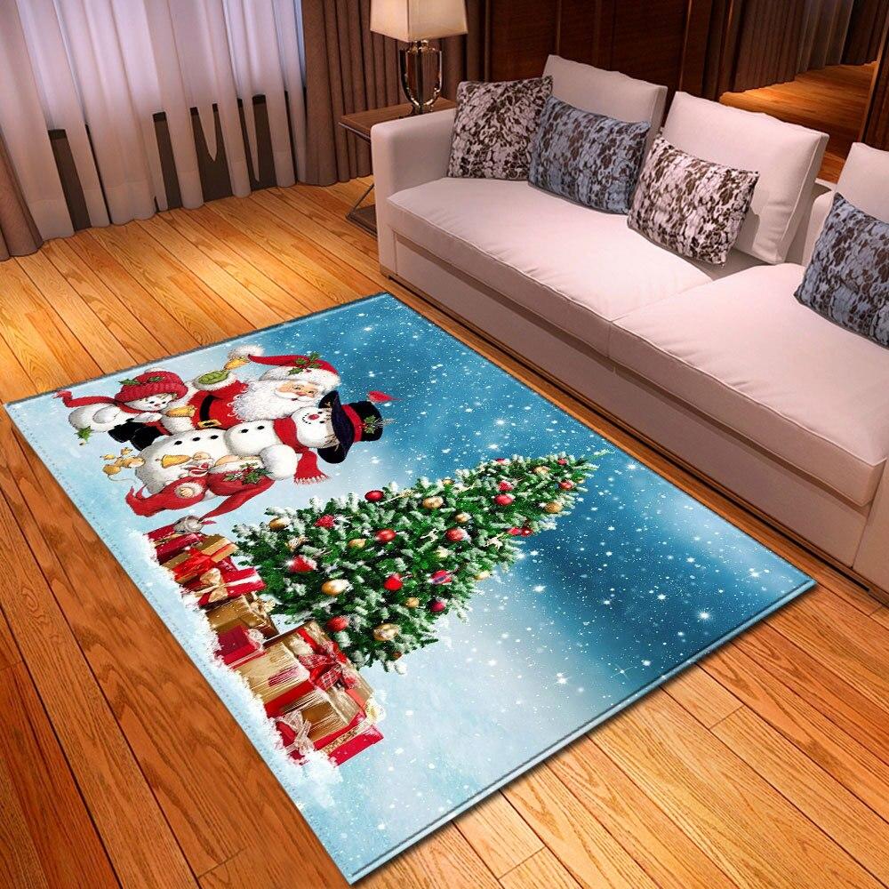 عيد الميلاد سجادة غرفة معيشة الأطفال البساط غرفة الاطفال الديكور سجادة كبيرة المنزل عدم الانزلاق المدخل غرفة نوم الطابق السرير حصيرة