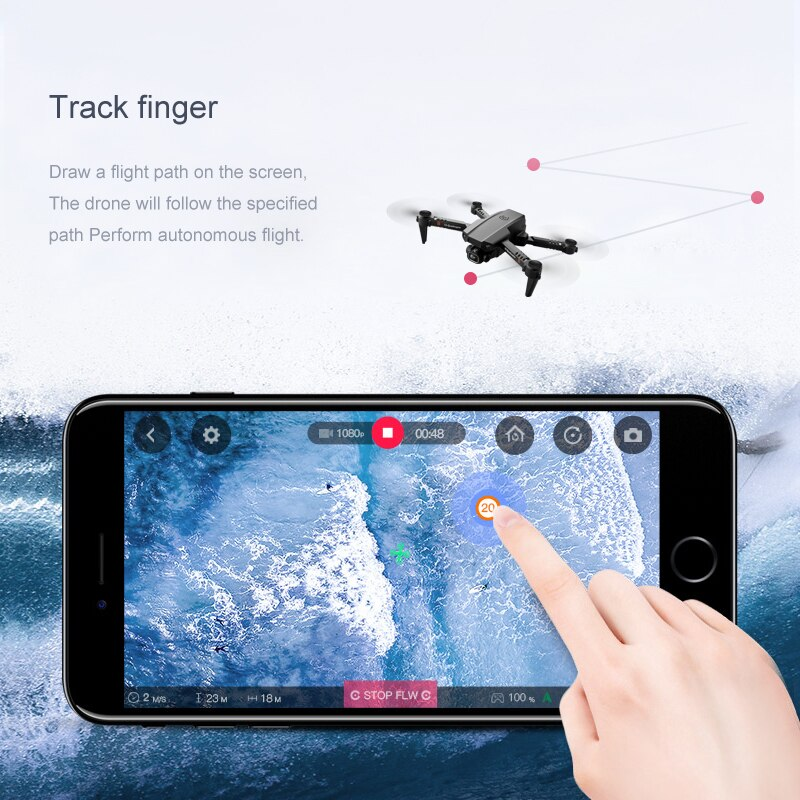 HD XT6 Professional Drone 4k Double Camera WIFI FPV Drone Air Pressure Fixed Height Four-axis Aircraft RC Helicopter with Camera