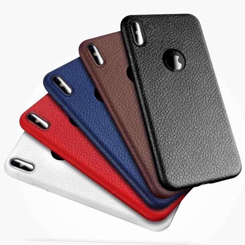 Capa de celular para negócios, capa de couro para iphone xr x xsmax xs, modelo apple iphone 7 8 6 s plus capa de tpu macia ultrafina de luxo