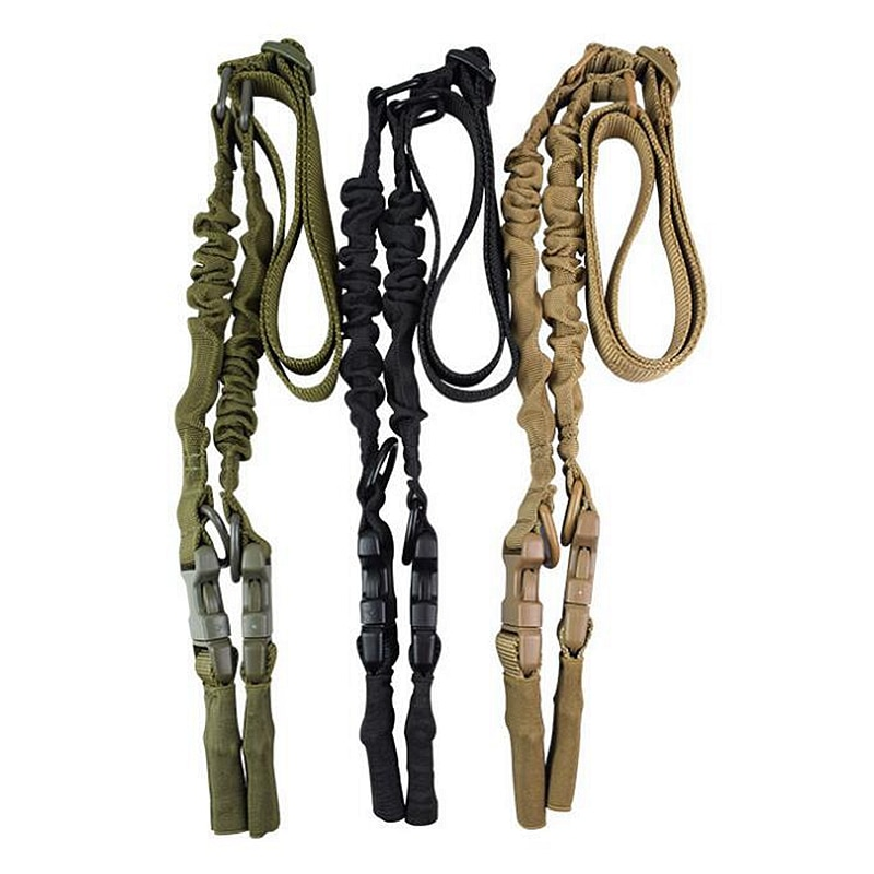 Tactical 2 Point Gun Sling Airsoft Rifle Nylon Heavy Duty Strap Military With QD Metal Buckle Adjustable Gun Rope Shooting Tools