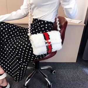 2020 New Homemade Coral Fleece Handmade Woven Bag Mesh Wool One Shoulder Messenger Women Leisure Vacation Beach Bag