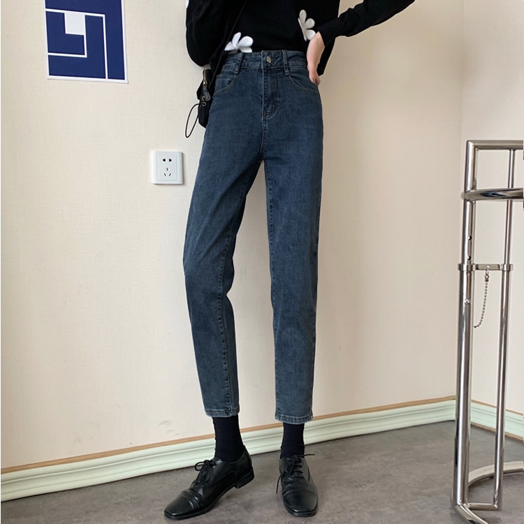 Early Autumn New 2021 Casual Fashion Loose and Slimming High Waist Cropped Skinny Pants Korean Style