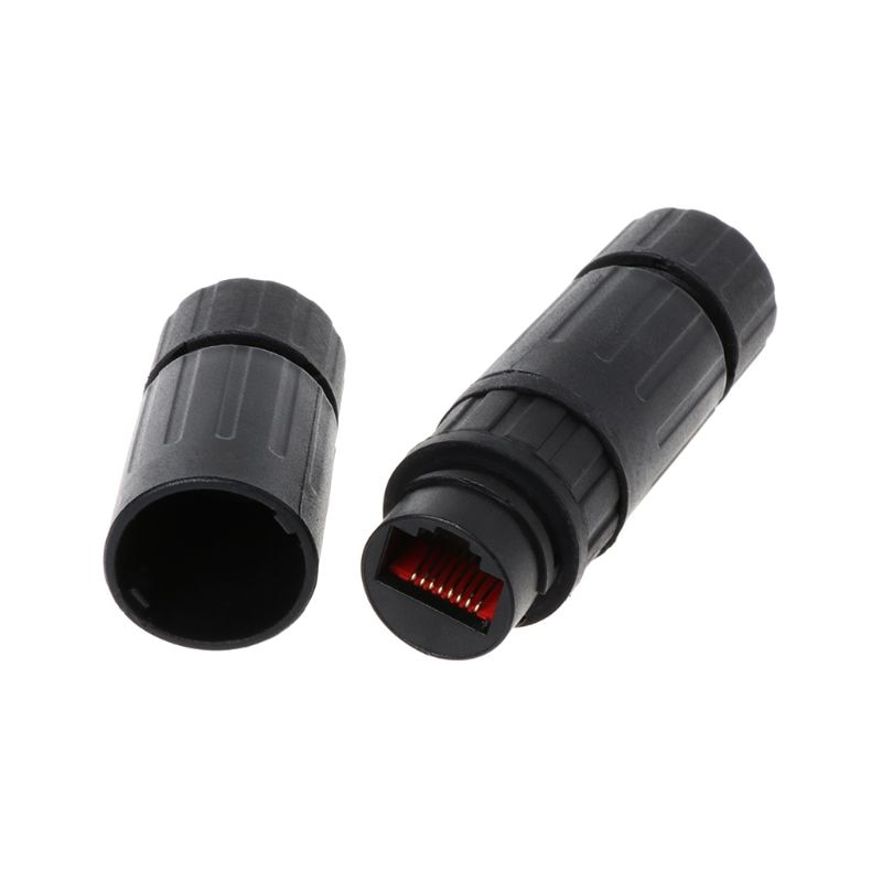 Lan Coupler RJ45 Waterproof Install Adapter Female to Female Jack Inline Connector Extender Protector Plug Cable Outdoor enlarge