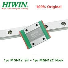 1pc Dorigine Hiwin guidage linéaire MGN12 150 200 250 300 330 350 400 450 500 550 mm MGNR12 rail + 1pc MGN12C bloc transport cnc 12mm