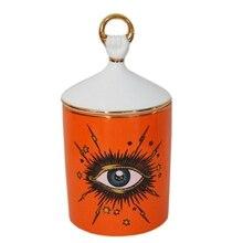 Big Eye Starry Sky Incense Candle Holder with Hand Lid Aromatherapy Candle Jar Diy Handmade Candelabras Home Desk Decoration