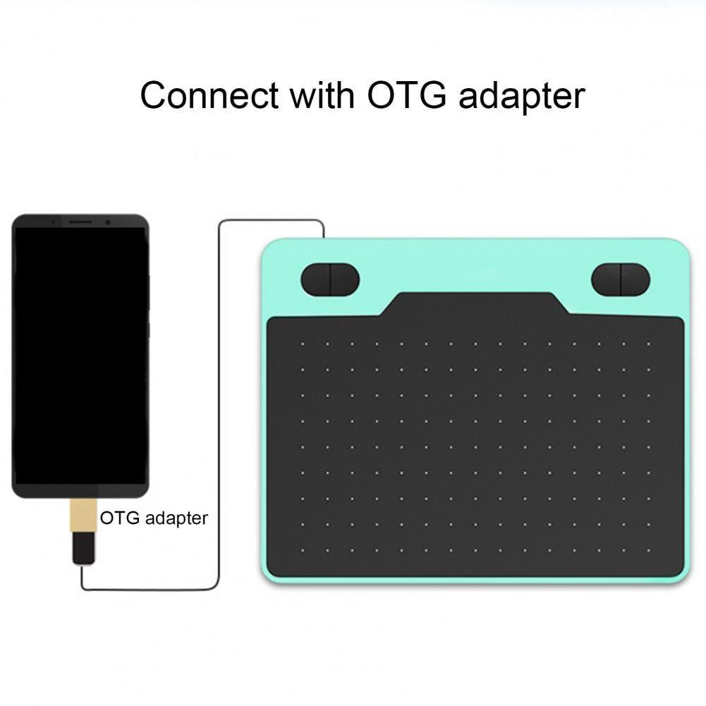 لوحة رسم رقمية مع ضوء مدمج ، متوافق مع الهواتف المحمولة ، لنظام التشغيل Windows و Mac OS