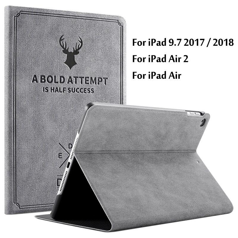 Caso para iPad aire 1 2 soporte magnético caso de cuero de la PU para el iPad 5 6 cubierta inteligente para iPad 9,7 2017 2018 5th 6th generación