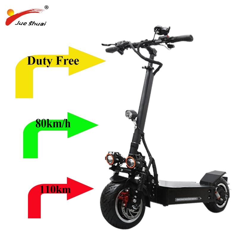 80 km/h 60v 3200w scooter Eléctrico 11 pulgadas fuera de carretera 3200w doble motor rueda plegable patineta eléctrica escooter libre de impuestos