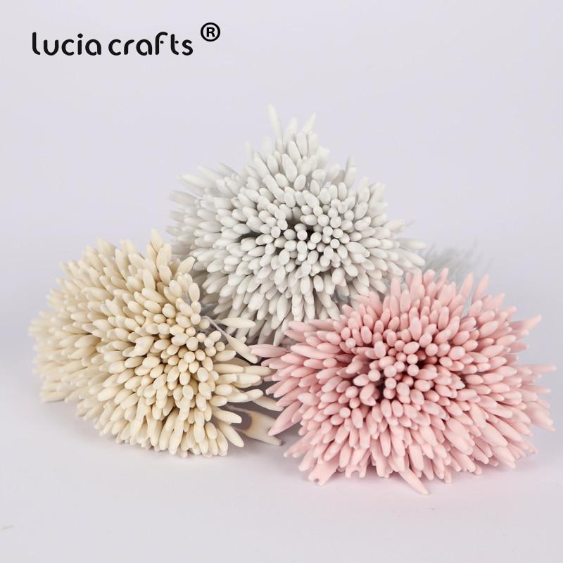 Lucia crafts 288pcs 2mm Matte White Single Head Flower Stamen DIY Pistil Cake Decor Craft C1201