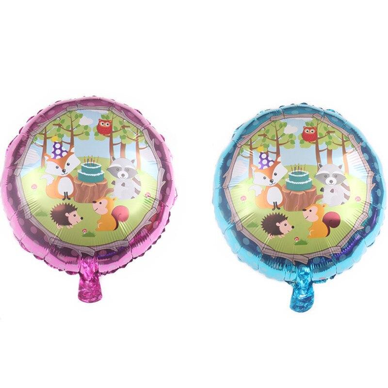 1 Uds. Globo de película de Doble cara de aluminio de 18 pulgadas para fiesta de cumpleaños con animales bonitos, suministros de decoración para niños, juego de dibujos animados, fiesta de cumpleaños