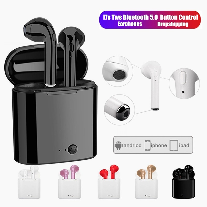 I7s TWS Auricolari Senza Fili Bluetooth cuffie di sport Auricolari auricolares Con Il Mic auricolares para Iphone Xiaomi Samsung Hu