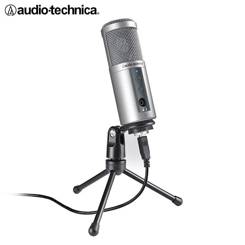 Jogo de Computador Microfone ao Vivo Áudio Original-technica Condensador Microfone Gravação Âncora Música Registro Atr2500 Usb