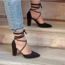 2022 Sandalias Femeninas High Heels Autumn Flock Pointed Sandals Sexy High Heels Female Summer Shoes