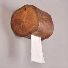 Holz Handtuch Tube Home Hotel Bad Wc Papier Rohr Wc Tissue Halter Küche Tablett LO62321