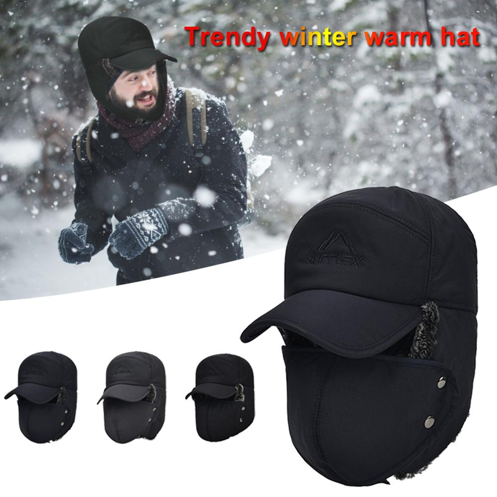 Winter Unisex Thermal Hats Men Women Full Face Shield Bomber Hat Ear Face Protection Camping Equipme