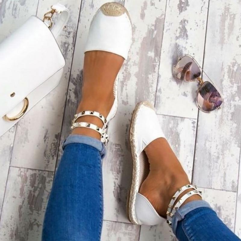 Wimen sapatos rebite calçado rebanho laço-up sandália pescador sapatos mulher sapatilha plus size 50-53 sandálias femininas