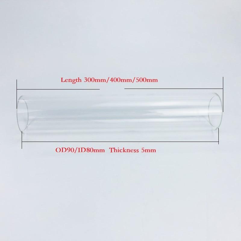 عمود زجاج البورسليكات ، القطر الخارجي 90 مللي متر ، داخل القطر 80 مللي متر ، الارتفاع 300/400/500 مللي متر عمود زجاجي