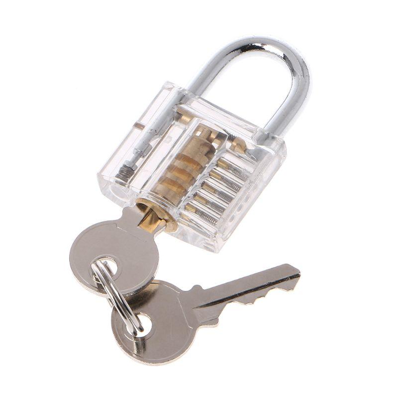 """50mm/2 """"fechaduras de corte transparente dentro de vista prática cadeado visível vista bloqueio treinamento habilidade bloqueios ferramenta cadeado"""
