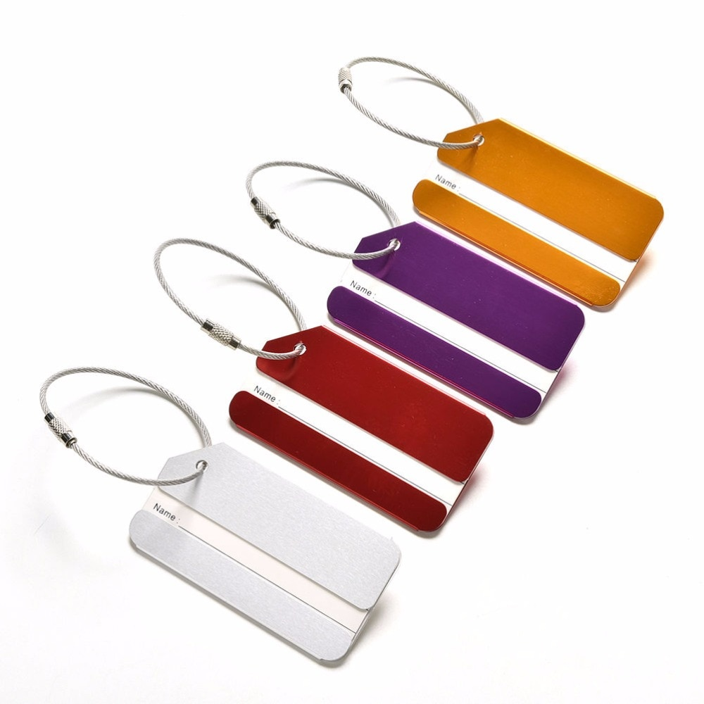 new fashion aluminium metal travel luggage tag baggage suitcase bag name address id label Aluminium Metal Travel Luggage Tag Baggage Suitcase Bag Name Address ID Label