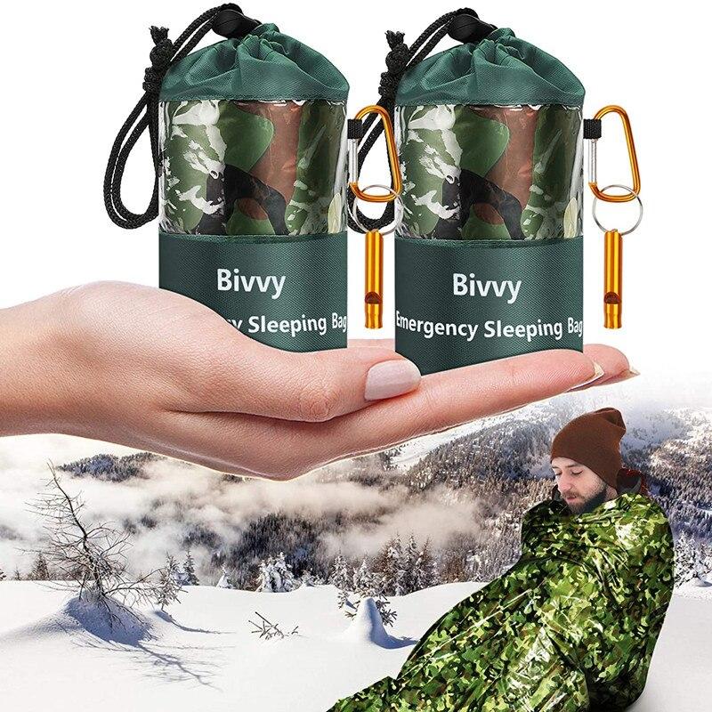 Emergency Sleeping Bags Thermal Blankets Ultralight Survival Waterproof Bivy Sack Multi Gear Hiking,Camping