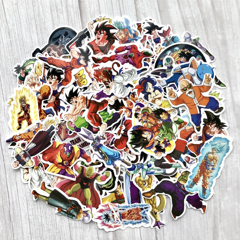 100 unids/pack mixto de la bola del dragón del Anime pegatina para coche portátil monopatín de motocicleta bicicleta PS4 teléfono etiqueta pegatinas de Pvc