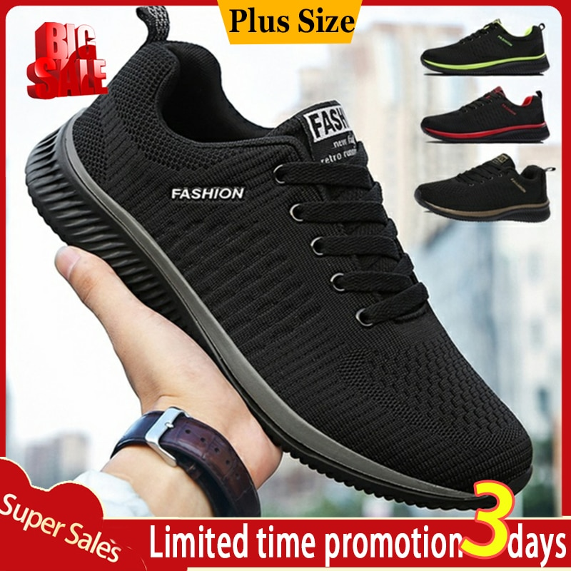 Summer Breathable Mens Casual Shoes Mesh Man Fashion Moccasins Lightweight Men Sneakers Hot Sale 35-48
