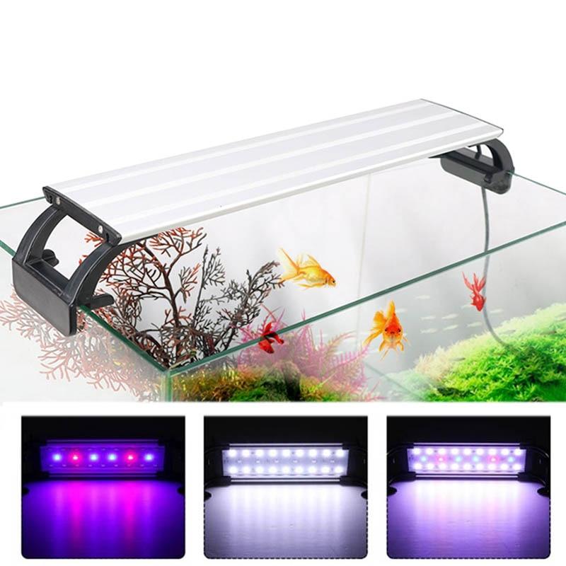 Aquarium Light LED Lighting 20-65CM Fish Tank Lamp Aquatic Plant Lights Fishing Led RGB Indoor Decoration With Timer and Dimming