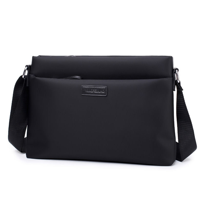 New Fashion Mens Shoulder Bag Waterproof Oxford Crossbody For Male Black Small Casual School Business Travel