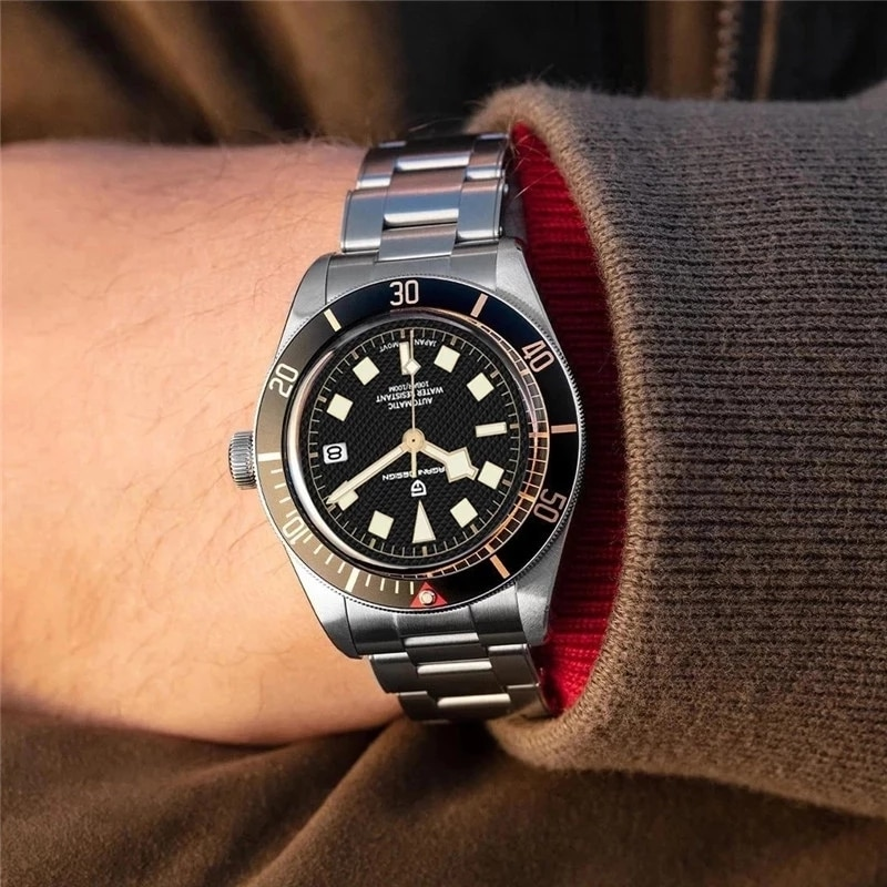 2021 New PAGANI DESIGN BB58 Men's Watches Mechanical Watch For Men Automatic Watch Men NH35 100M Waterproof Relogio Masculino enlarge