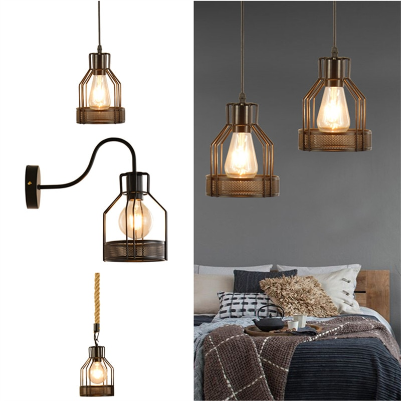 American Loft Warehouse Ceiling Lamp Restaurant Wall Light Creative Bar Cafe Lighting
