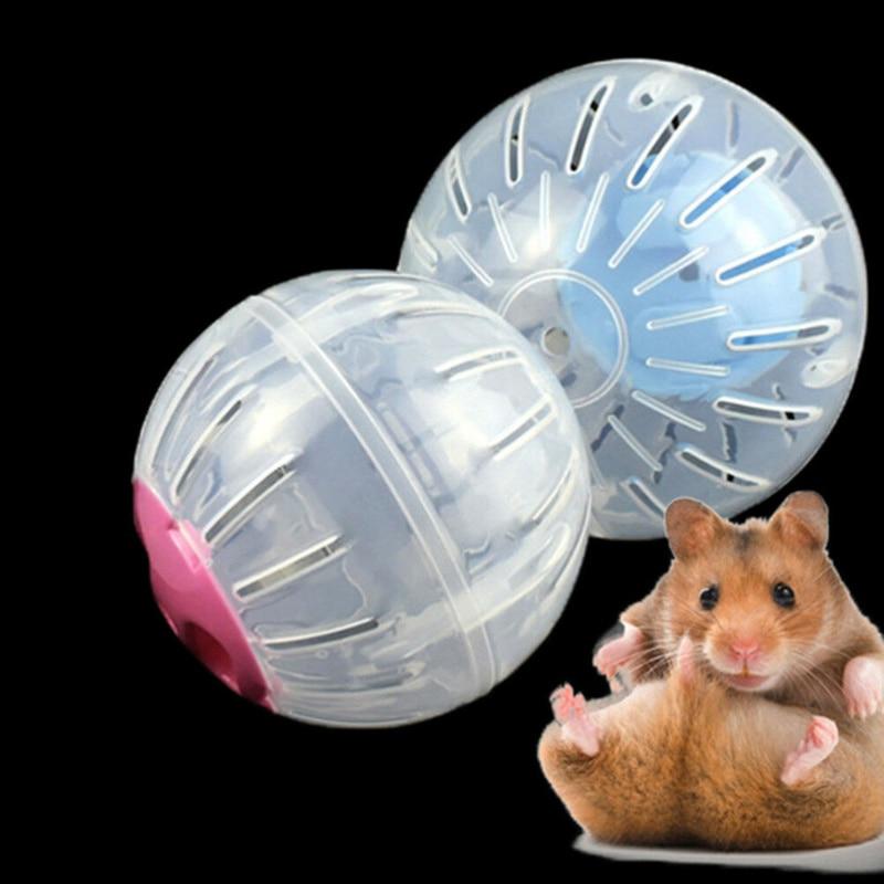 Pelota de plástico para deportes al aire libre para mascotas, juguetes para rata, roedores, ratones, juguetes para trotar, hámster, Gerbil, pelotas para hacer ejercicio, juguetes para jugar