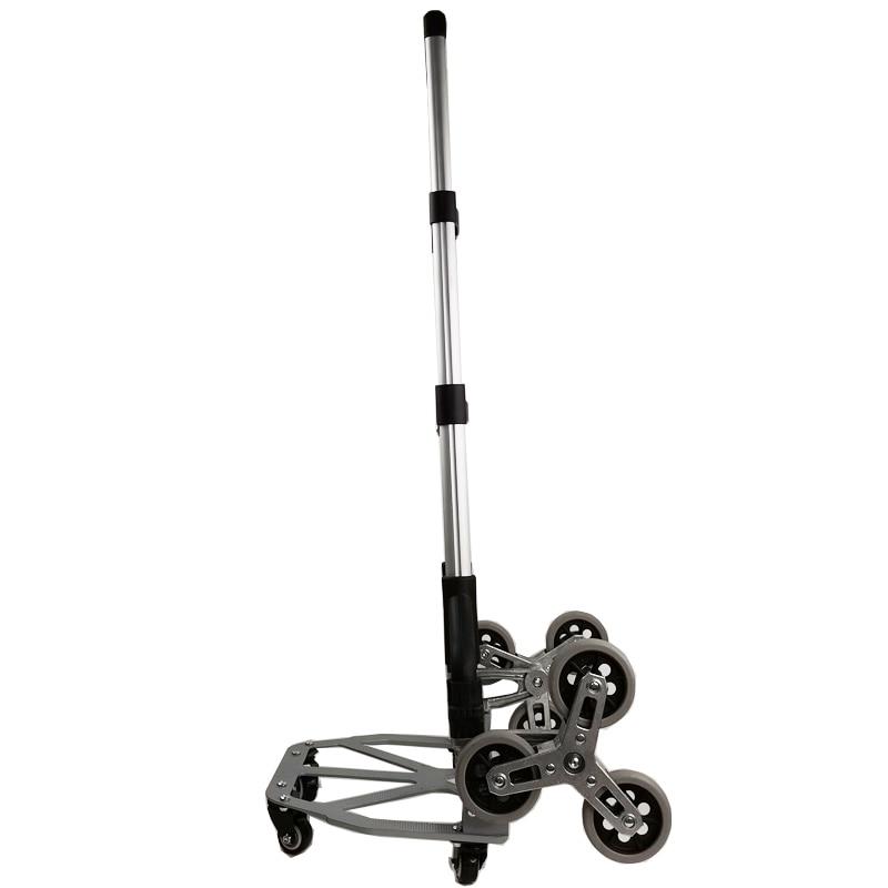 Cart Folding Trolley Hand-Truck Upstairs Climbing Portable 3 Wheels All-Terrain