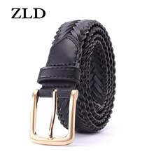 ZLD New fashion woven women's belt alloy pin buckle trend designer casual All-match ladies belts for