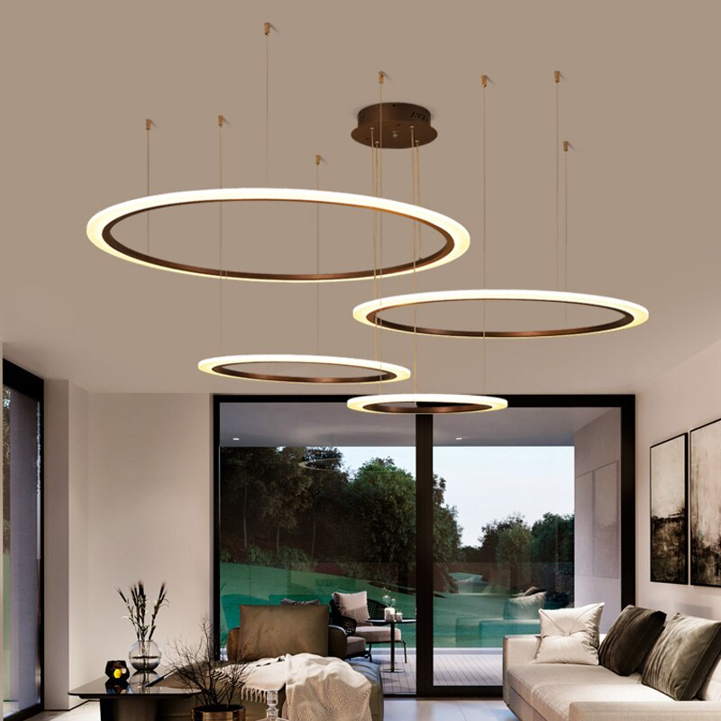 ثريا LED دائرية مع جهاز تحكم عن بعد ، تصميم حديث ، إضاءة داخلية ، إضاءة سقف زخرفية ، مثالية لغرفة المعيشة أو غرفة النوم.