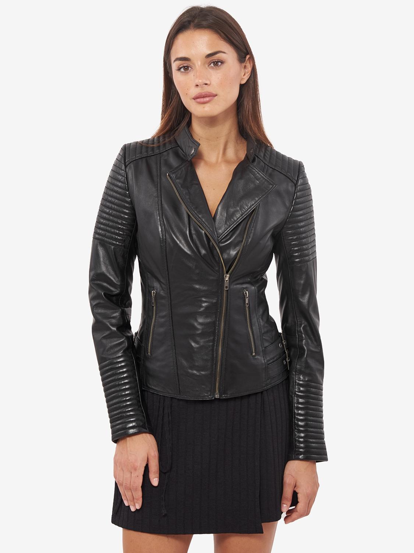 Vinas marca europeia mulheres jaqueta de couro genuíno para as mulheres real jaqueta de couro de ovelha motocicleta jaquetas motociclista julie