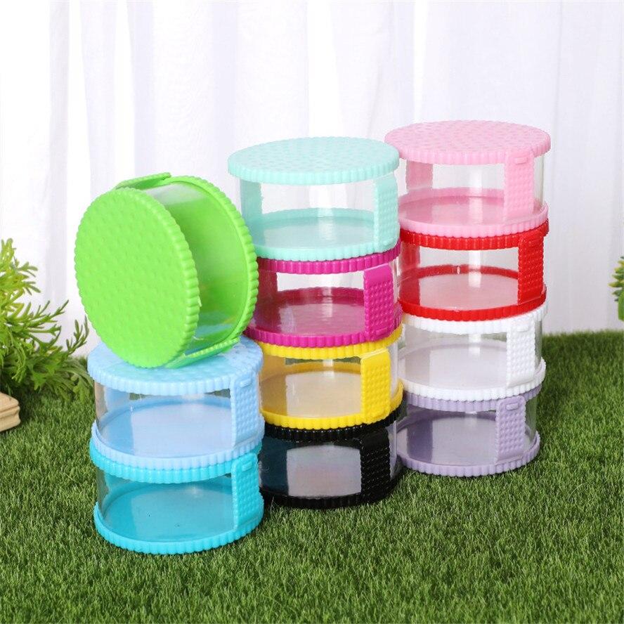 12 Uds Mini cesta redonda caja de almacenamiento de plástico viaje caramelo caja regalos de boda Baby Shower fiesta decoración niños regalos de cumpleaños