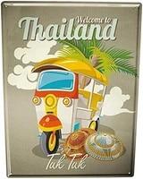 not applicable vintage aluminum new tin sign aluminum retro holiday travel agency thailand designable customization