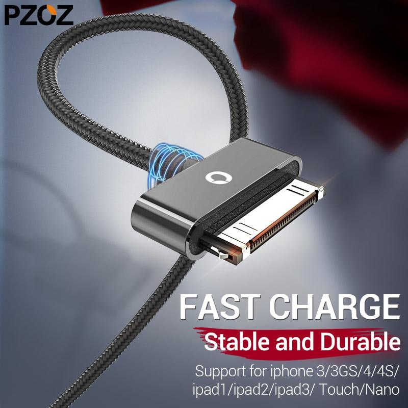 Cable de carga PZOZ para iphone 4, cable de carga rápido de...