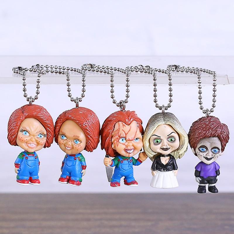 Juguete infantil chlucky Tiffany trench Mini figura de PVC muñecos colgantes juguetes Brinquedo 5 unids/set