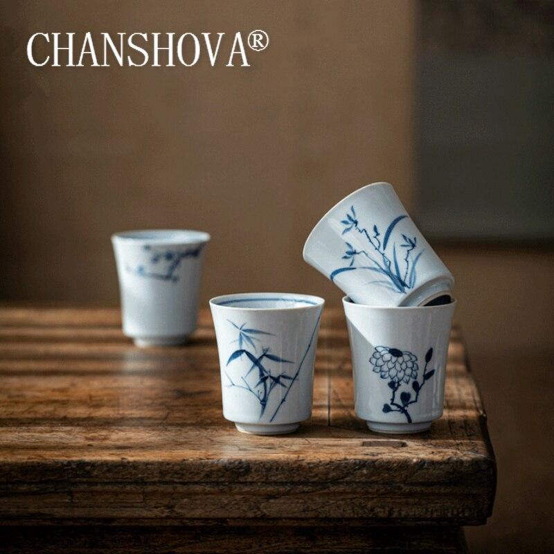 CHANSHOVA-فنجان شاي سيراميك 80 مللي ، طقم قهوة ، بورسلين صيني ، مطلي يدويًا ، H625