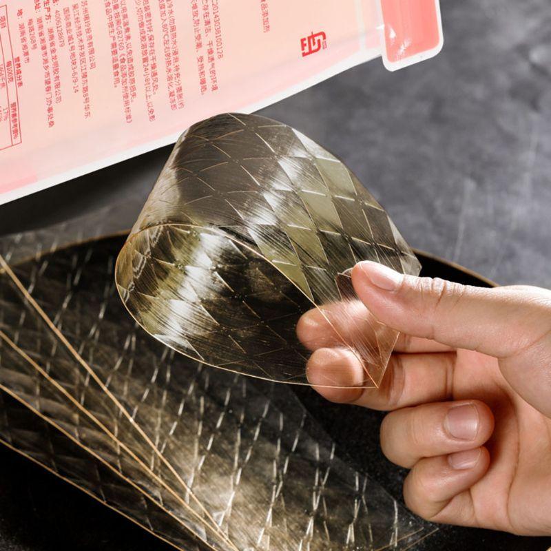 10 dużych arkuszy Halal srebrny liść żelatyna wołowina żelatyna liście do pieczenia Mix K4UA