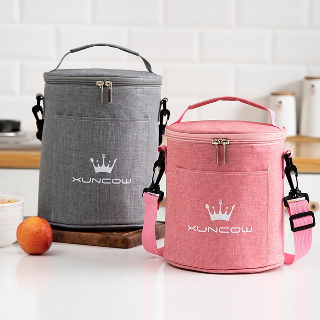 Bolsa de almuerzo portátil fiambrera térmica aislante, bolsa de mano más fresca, bolsa Bento, contenedor de comida escolar, bolsas de almacenamiento
