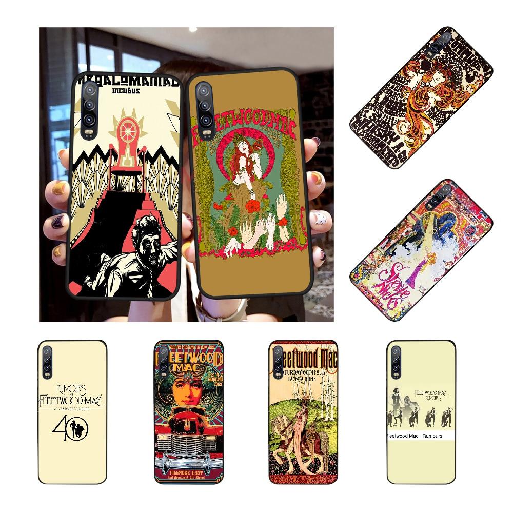 NBDRUICAI pictorial Fleetwood Mac poster черный мягкий чехол для телефона в виде ракушки для Huawei P30 P20 P10 P9 P8 Mate 20 10 Pro Lite