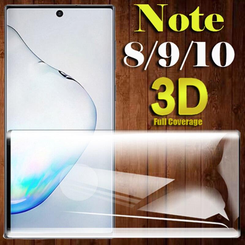 No 8 9 caso para samsung galaxy note 10 parachoques casos samsung samsum sansun note8 note9 note10 5g glas galax glaxy cubierta de vidrio